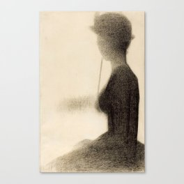 Seated Woman with a Parasol Canvas Print