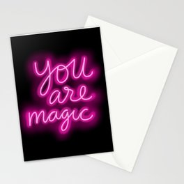 You Are Magic neon Stationery Cards