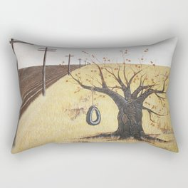 Tire Swing, Old Tree and Swing Painting Rectangular Pillow