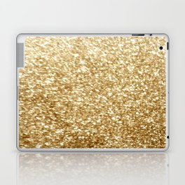 Gold glitter Laptop & iPad Skin