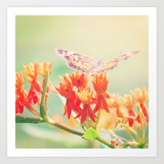 Happiness is a Butterfly Art Print
