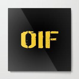U.S. Military: OIF Metal Print