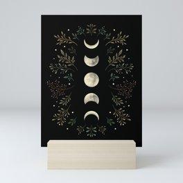Moonlight Garden - Olive Green Mini Art Print