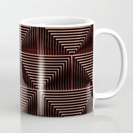 Mesmerizing Squares Red - Art Deco Pattern Coffee Mug