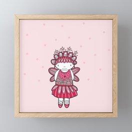 Pink Angel Framed Mini Art Print