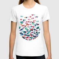 purple T-shirts featuring Heart Connections - watercolor painting by micklyn
