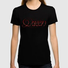 Queen  Womens Fitted Tee Black X-LARGE