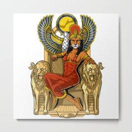 Egyptian Goddess Sekhmet Metal Print