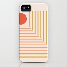 Lines & Circle 02 iPhone Case