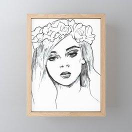Flower Girl #3 Framed Mini Art Print