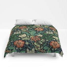 William Morris Compton Floral Art Nouveau Pattern Comforters
