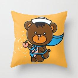 Sleazy Sam has a present for you! Throw Pillow