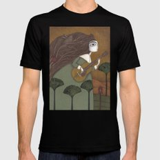 The Guitar Player Black MEDIUM Mens Fitted Tee