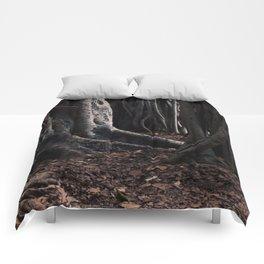 Spooky Winter Trees Comforters