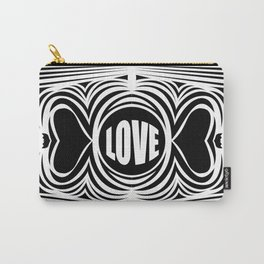 heart center1 white Carry-All Pouch
