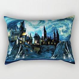 Starry Night Hogwarts Rectangular Pillow