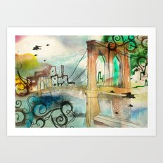 Brooklyn Bridge 3 Art Print