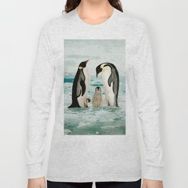 Emperor Penguin Family Long Sleeve T-shirt