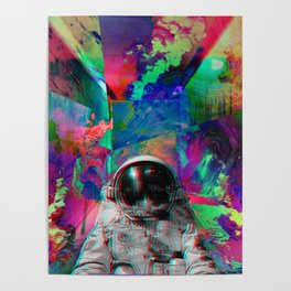 Tripping Space Man Poster