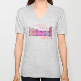 periodic table of pork Unisex V-Neck