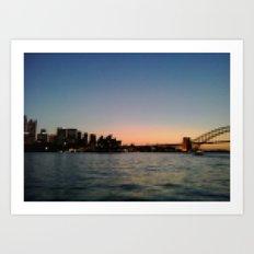Sydney Harbour Pixels No.2 Art Print