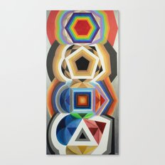 Primary Totem Canvas Print