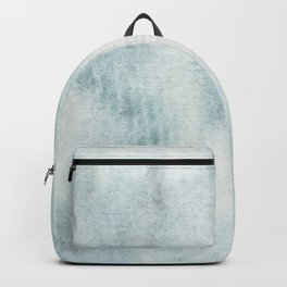 Gray and green watercolor abstract pattern Backpack