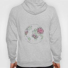 WORLD Map Pink #globe #7 Hoody