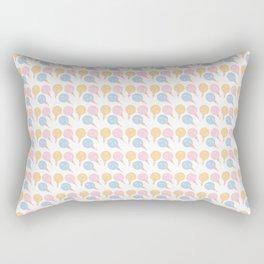 Summer Ice Cream Pixel Scoop Rectangular Pillow