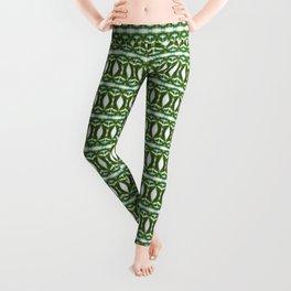 Palm Leaf Kaleidoscope (on white) #2 Leggings