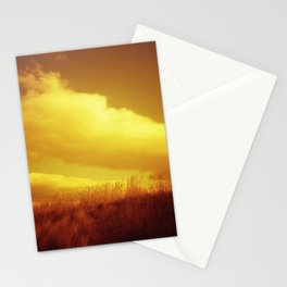 Red Sky at Night - Redscale Film Photograph on Chincoteague Island Stationery Cards