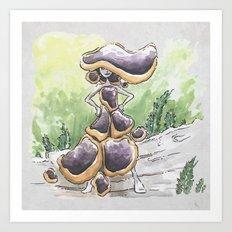 Empire of Mushrooms: Bulgaria inquinans Art Print