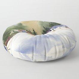 Colorado Horse Ranch Floor Pillow