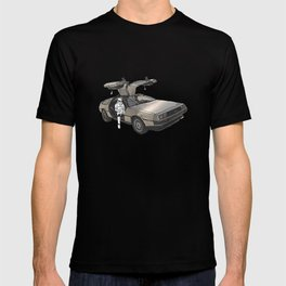 Stormtrooper in a DeLorean - waiting for the car club T-shirt