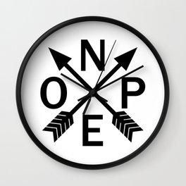 Compass Nope Wall Clock