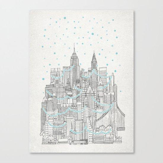 Winter in New York Canvas Print
