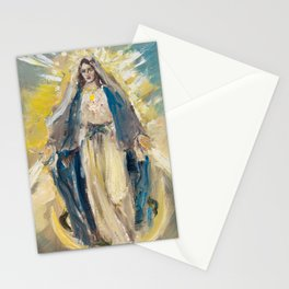 Our Lady of Graces. The Miraculous Medal IV Stationery Cards