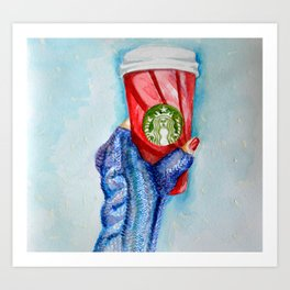 Holiday Cup Art Print