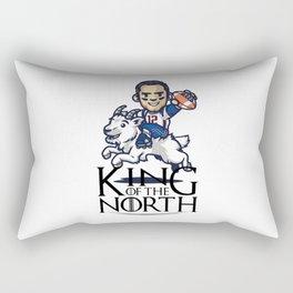 Tom Brady - king of the north Rectangular Pillow