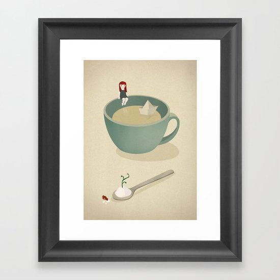 Cup beach Framed Art Print