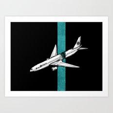 Flight 815 Art Print