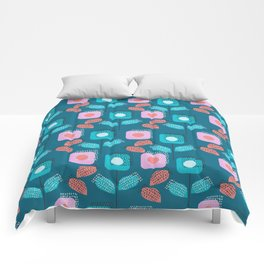 Modern floral garden Comforters