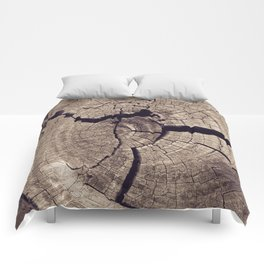 Cracks in Time - Photography #Society6 Comforters