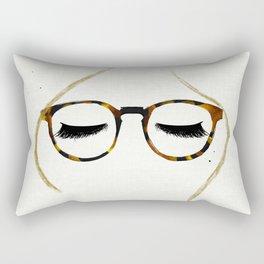 Tortoiseshell Glasses Blonde Rectangular Pillow