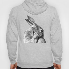 Black and white rabbit Hoody