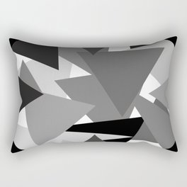 Abstract Simple Art Monochrome Grey Triangles Rectangular Pillow