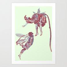Lovers come and grow. Art Print