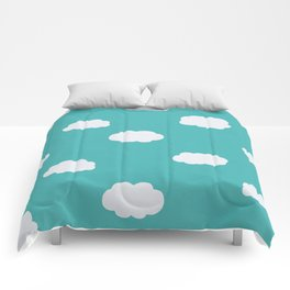 Cartoon Clouds Pattern Comforters