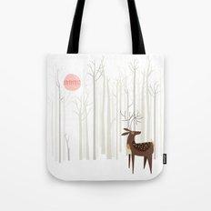 Reindeer of the Silver Wood Tote Bag
