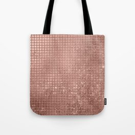 Beautiful Modern Rose Gold Square Pattern Tote Bag